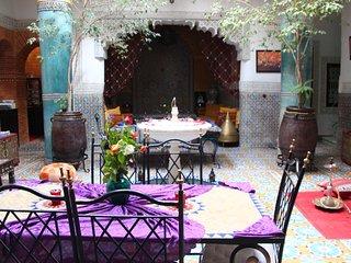 Chambres doubles dans Riad au coeur de la medina a 5 min de la place jamaa lfna
