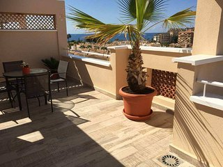 Stylish and modern two bedroom apartment with sea views. Sleeps four.