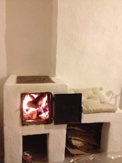 One of the 3 log burning stoves (this one is in the living room)