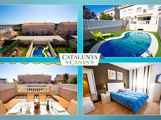 'Villa Encantada' in Creixell, only 1km to Costa Dorada beaches!