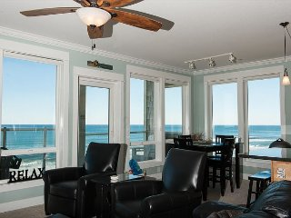Cape Lookout - Corner Top Floor Oceanfront Condo, Private Hot Tub, Indoor Pool!