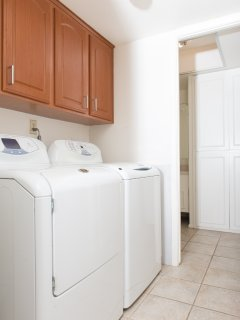 In-home GE washer and dryer.