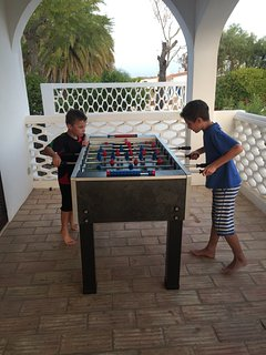 Table Football on terrace