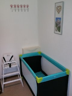 Pack and play cot available if needed