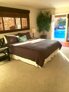 Master Bedroom w/ French Doors to pool