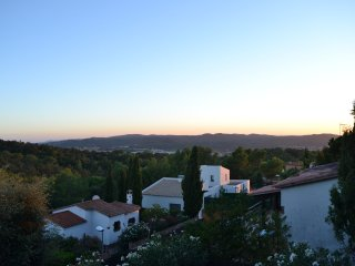The evening view ...