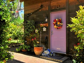 Wild rose chalet cabin beckons you to leave your hiking boots outside and relax.