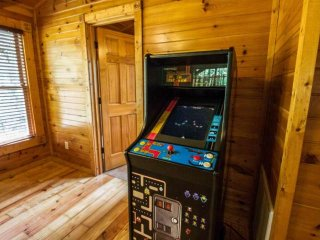 Video Games, Pinball Machine & Pool Table in Loft Area