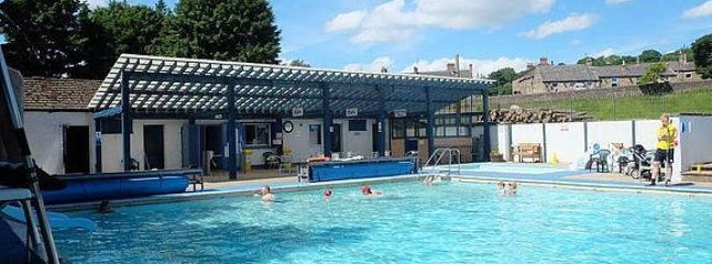 The outdoor heated pool in stanhope