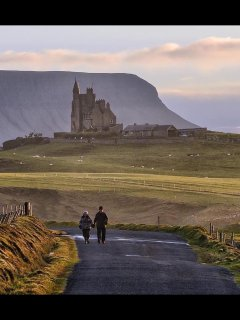 Beautiful Mullaghmore with Ben Bulben in the background