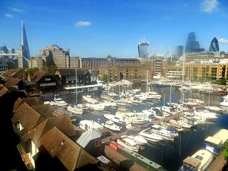 St. Katharine Docks apartment with astounding views of the Docks & Tower Bridge