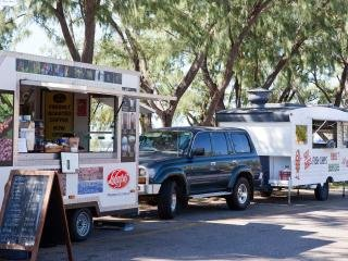 Local food vans, great for coffee & a snack