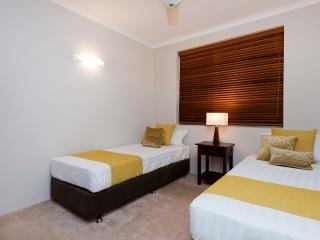 Air conditioned bedroom. 1 King bed or 2 Singles