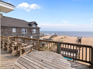 8BR True Oceanfront S Nags Head HC Access, Elevator, Private pool & beach access