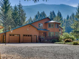 Sunny, riverfront home w/ private hot tub and beautiful views - dog-friendly!