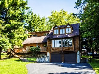 Charming, dog friendly home across quiet street from the lake!