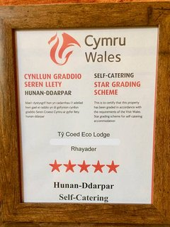We have been awarded 5 STARS ***** from visit Wales grading.