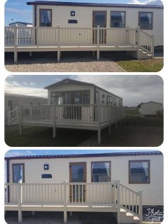 different views of the decking