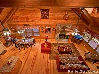 Overhead View of Living Room at Pigeon Forge Pleasures