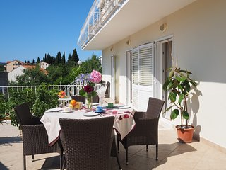 Apartment & Room Eva Slano - Two Bedroom Apartment with Terrace and Sea View