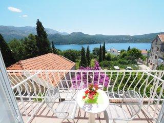 Apartment & Room Eva Slano - Double Room with Balcony and Sea View (Kamara)