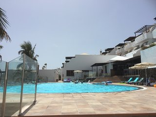 Swimming pool side view