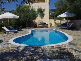 Villa Asteri, pool view, relax and unwind in your private pool with your family around you!