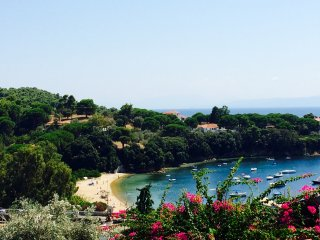 View of Kolios beach from the terrace.
