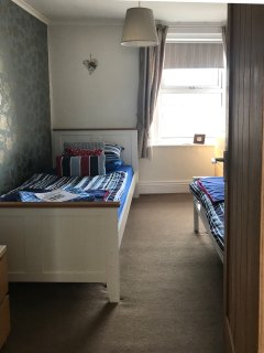 twin room with TV DVD views over village square to the hills beyond