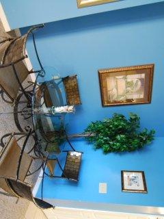 Balcony,Light Fixture,Mirror,Art,Indoors
