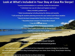Look at What's Included in your stay