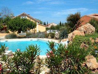 villa piscine 4chien bienv chambres toutes avec salle d'eau et wc, clim totale,