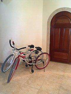 Two bikes come free with our home & will get you wherever you want to go on the island!