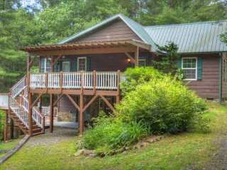 Manna Cabin-Private & Secluded 3 BR Cabin w/HOT TUB, WIFI, Fire Piet & Pets OK