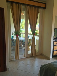 Private veranda access right from master bedroom.