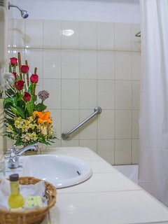 Bathroom with Safety bar, very hot water