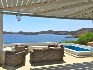 Lipsi : magnifique villa de 7 chambres - plage privee et vue exceptionnelle