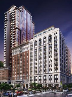 Luxury, historical brandnew downtown hotel condo