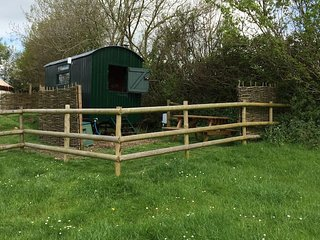 Swift  Shepherd  hut, near River Cottage, Lyme Regis, Axminster  and Seaton
