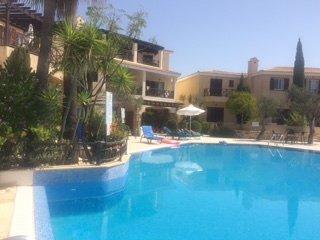 Ground apartment at Vikla village in Tsada. Infinity pool with stunning views