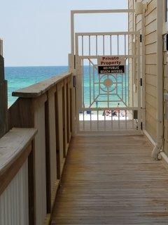 Private beach access for condo guests