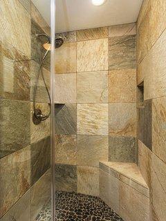 Beautiful Quartzite Master Shower