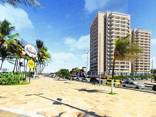 Lindo apartamento com vista mar espetacular. BEAV606N