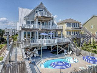 Island Drive 3574 Oceanfront! | Private Heated Pool, Hot Tub, Elevator, 2 Jacuzz