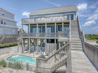 New River Inlet Rd 454 Oceanfront! | Private Heated Pool, Jacuzzi, Internet