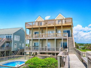 New River Inlet Rd 418 Oceanfront! | Private Pool, Internet, Jacuzzi