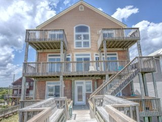 Island Drive 4464 Oceanfront! | Hot Tub, Jacuzzi, Fireplace