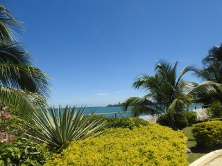 The gardens have been well landscaped and an external gate provides access to steps down to beach