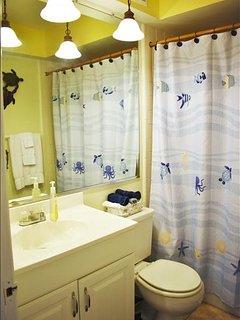 updated, clean full bathroom