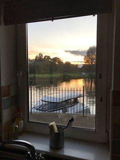 View through the kitchen window.
